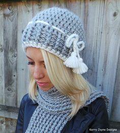 NORDIC TASSEL CROCHET Pattern Crochet Hat by KerryJayneDesigns