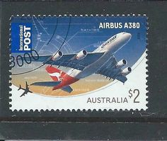 Qantas $2 Australia International Postage Stamp