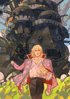 Studio Ghibli Art, Studio Ghibli Movies, Totoro, Howl Pendragon, Howl And Sophie, Character Art, Character Design, Japon Illustration, Howls Moving Castle