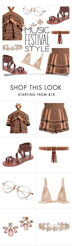 """""""Show Time: Best Festival Trend"""" by loloksage ❤ liked on Polyvore featuring CECILIE Copenhagen, Tory Burch, Steven by Steve Madden, La Perla, Marchesa and Humble Chic"""