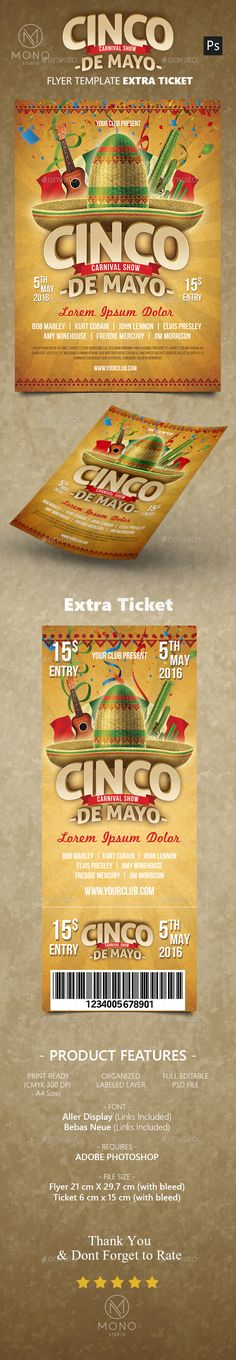 Cinco de Mayo Flyer Template PSD. Download here: http://graphicriver.net/item/cinco-de-mayo-flyer/15882229?ref=ksioks