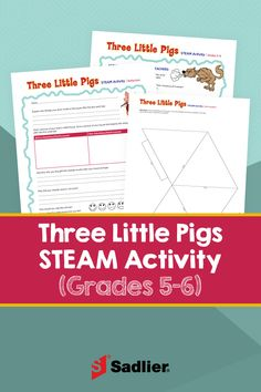 With the Three Little Pigs STEAM Activity students will engage in Science, Technology, Engineering, Arts, and Mathematics activities that also connect to reading. Free Math Games, Literacy Games, Steam Activities, Hands On Activities, Math Teacher, Teaching Math, Stem Learning, Three Little Pigs, Built Environment
