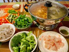 Chinese hot pot. Perfect for cold weather!