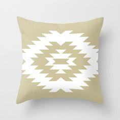 Gold Southwestern Throw Pillow