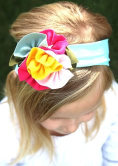 Jersey Knit Flower Headbands ~ 10 Styles!