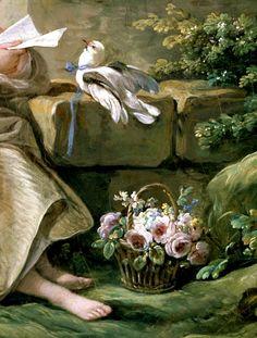 """"""" The secret message, Detail. by François Boucher, 1767 """""""