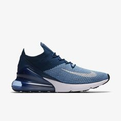 premium selection 884f6 0b89c AO1023-400-Nike-Air-Max-270-Flyknit-Work-Blue-2