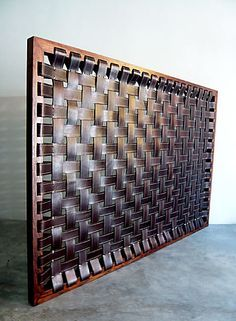 woven leather bedhead - Google Search