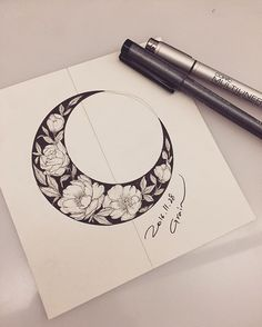 For once I like the sharp lines of this. So beautiful. #moon_tattoo_sleeve