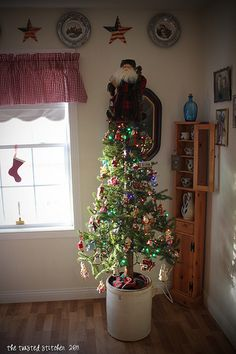 Christmas tree in a crock