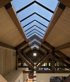 Franktown Ranch by Sexton Lawton Architecture~cool beams...
