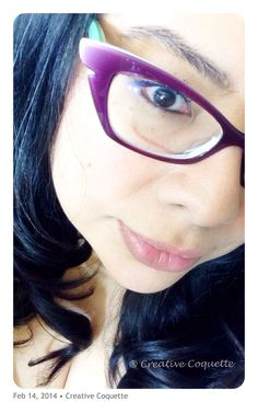 Here you can see the sweet mint color on the sides of my new Face à Face glasses.