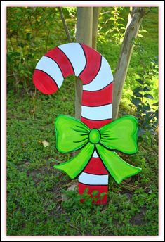 2 Christmas Yard Art Outdoor/Indoor Candy Cane Holiday Decorations – The Best DIY Outdoor Christmas Decor Grinch Christmas Decorations Outdoor, Christmas Yard Art, Diy Christmas Lights, Christmas Wood, Christmas Candy, Christmas Holidays, Christmas Crafts, Christmas Ornaments, Outdoor Decorations