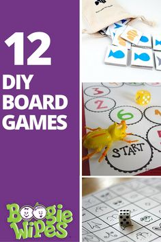 12 DIY Board Games for Kids- Boogie Wipes We're sharing 12 of the best DIY board games for kids. Your entire family will love making and playing these fun and simple games. Preschool Board Games, Math Board Games, Family Board Games, Board Games For Kids, Games For Toddlers, Games For Teens, Activities For Kids, Children Games, Articulation Activities