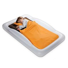 Amazon.com : The Shrunks Toddler Travel Bed Portable Inflatable Air Mattress Bed for Toddlers for Travel or Home Use, White, Toddler Size 60 by 37 inches : Infant And Toddler Travel Beds : Baby