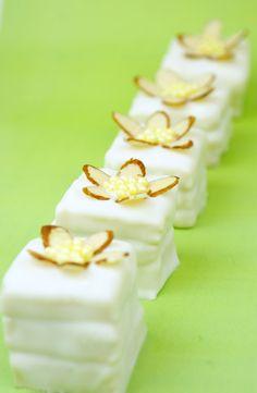 (Easy) White Chocolate Raspberry Petit Fours