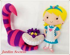 Alice e Cheshire Cat / feltro / felt