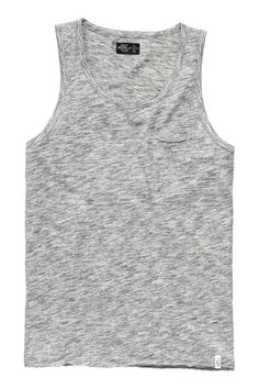 Mens Striped Vest Brave Soul Tank Top Marl Sleeveless Gym Beach Summer Casual