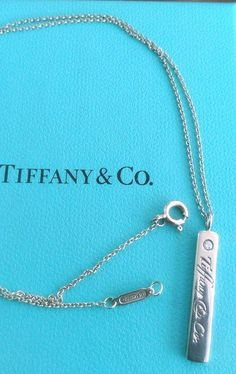 Authentic Tiffany 925 Sterling Silver Bar Pendant / Necklace & Matching Bracelet #TiffanyCo #BarPendant