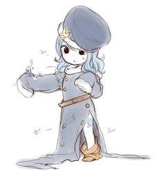 Juvia as a child!! She so cute! I want to hug her!
