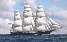 Flying Cloud (1851) - a clipper ship that set the world's sailing record for the fastest passage between New York and San Francisco, 89 days 8 hours.