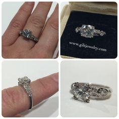 This classic beauty dates from the 1940's with a 1.02 carat central diamond set in platinum. $7995. Call to purchase. #giltjewelry #platinum #vintage #diamond #engagement #engagementring #platinum #wedding #weddingring #bridal (at Gilt)