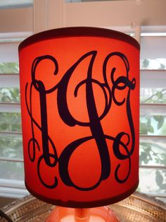 Monogrammed lamp shade lamps textiles and monograms monogrammed lamp shade mozeypictures Image collections