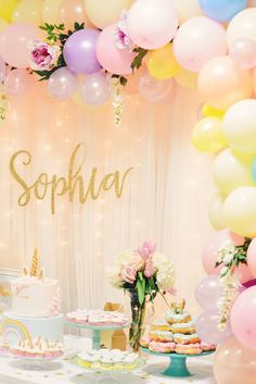 Sophia's Unicorn Birthday Party