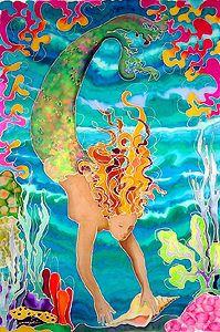 One of my FAVORITE Artists!!  Art on Silk by Marjolein Scott-van der Hek