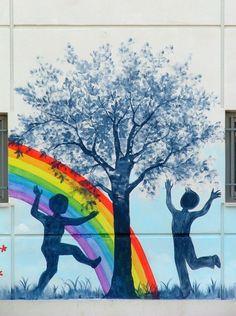 τοιχογραφια προσοψεως σχολειου Book Images, Murals, Painting, Nails, Art, Street Graffiti, Finger Nails, Art Background, Ongles