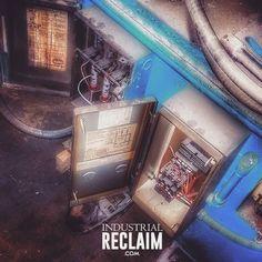 Harvesting electrical boxes from old equipment for new equipment.  IndustrialReclaim.com  #reclaimed #repurposed #industrialfurniture #modernfurniture #design #art #handmade #decor #vintage #vintageindustrial #industrial #artofchi #creative #steel #metal #metalwork #welding #industrialdesign #interiordesigner #interiordesign #modern #moderndesign #modernindustrial #chicago #Chicagoart #insta_chicago #chicagogram