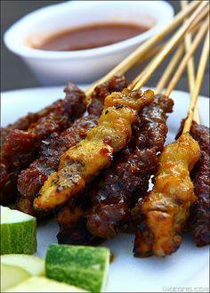 Malaysian satay - beef and chicken
