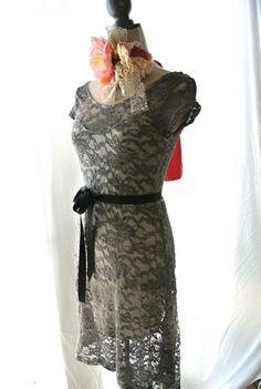 Gray dress Fall dresses High low dress shabby by TrueRebelClothing, $72.00