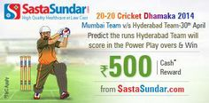 #Predict the runs #Hyderabad Team will score in the Power Play overs against #Mumbai Team on 30th April.  http://www.foreseegame.com/user/GamePlay.aspx?GameID=WSeEDdtEGwlxw3t0KZZsKw%3d%3d