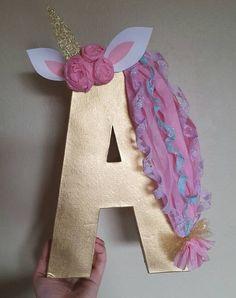 Super cute unicorn themed letter