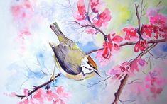 Watercolor Flowers Wallpaper - WallpaperSafari