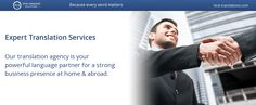 Translation Services for your business presence abroad
