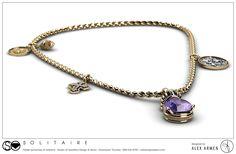 Custom Gemstone Charm Necklace