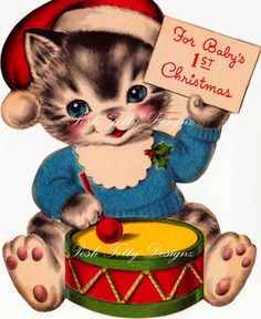 PLEASE NOTE...this listing is for 1 digital image and NOT the actual greetings card!!! All these digital images come from my own personal collection of vintage cards that I have sold, still have or are available to buy from my shop. Most of them date from the 1930-1950s. I have cleaned them up and repaired any cracks or blemishes that might have been on them. This image will be emailed over to you on a 300 dpi JPEG file in most circumstances within 24 hours of receiving payment. If I am…