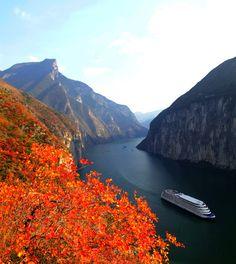 Qutang Gorge on the Yangtze River, China