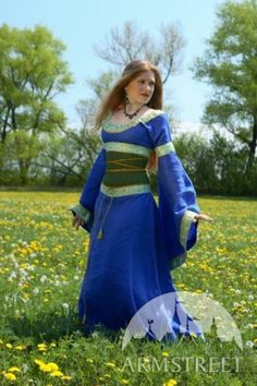 "Medieval Costume Medieval Dress and Corset Belt ""Mistress of The Hills"" 