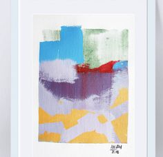 Landscape painting Abstract painting Purple painting Art