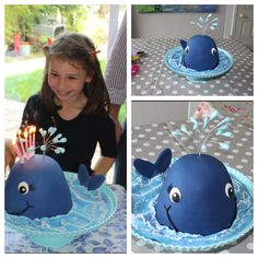 Whale cake inspired by Lindy Smith. … Whale cake inspired by Lindy Smith. Shark Birthday Cakes, Make Birthday Cake, Boys 1st Birthday Party Ideas, Bithday Cake, Whale Cakes, Ocean Cakes, Nautical Cake, Animal Cakes, Summer Cakes