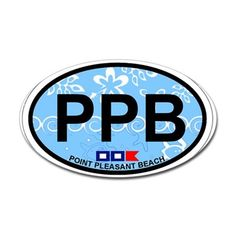 Point Pleasant Beach NJ - Oval Design Decal on CafePress.com