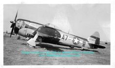 """P-47 Thunderbolt - """"Slick Chick"""", Flown by Col. Frank S. Perego, 368th Fighter Group Commander."""