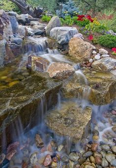 I just want to run my feet over the different stones and feel the cool water tease my senses!
