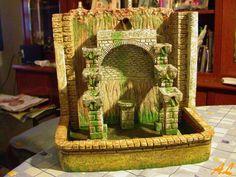 Tutorial de una fuente historiada – Nacimiento en Belén Coolpix, Wicker, Decor, Diy, Tutorials, Pinwheel Tutorial, Water Wheels, Paving Stones, Bridges