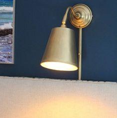 Shine Your Light: Ikea Wall Light Hack Wall Mounted Lights Bedroom, Ikea Wall Lights, Ikea Wall Lamp, Wall Mounted Reading Lights, Bedroom Reading Lights, Ikea Lighting, Home Office Lighting, Bedroom Lighting, Bedside Wall Lights