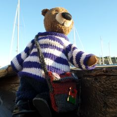 Bear - the captain! Plaid Scarf, My Friend, Teddy Bear, History, Animals, Fashion, Moda, Historia, Animales