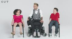 Amin doesn't shy away from their honest curiousity and even gives two lucky siblings a spin in his wheelchair.Kids Ask Frank Questions Of A Man With Muscular Dystrophy